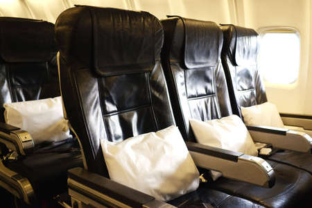 seating: Airplane inside Stock Photo