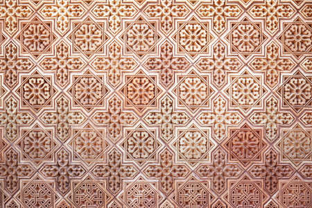 Background of classical Arabic pattern photo