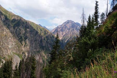 lanscape: Wilderness lanscape in Tyan-Shan mountains,Kazakhstan Stock Photo