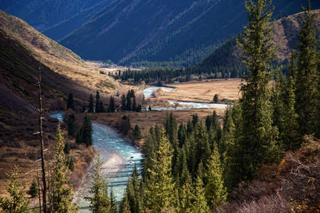 The Chilik river in Tyan-Shan mountains, Kazakhstan photo