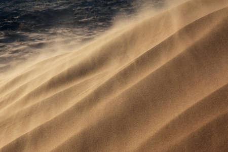Sandstorm in desert national park Altyn-Emel, Kazakhstan Фото со стока