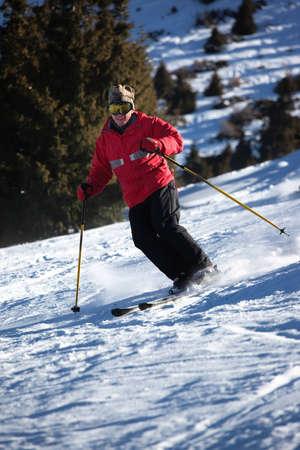 A main skiing on ski resort Stock Photo - 8731326