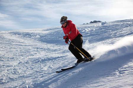 A main skiing on ski resort