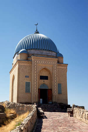 mausoleum: Tekturmas-Ata Mausoleum in Taraz city, Kazkahstan Stock Photo