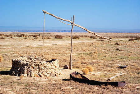 water feature: Old well nomads in desert