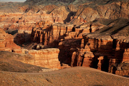 Charyn canyon in the Kazakhstan photo