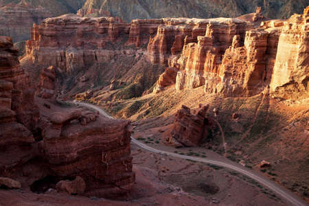wilderness area: Charyn canyon in the Kazakhstan Stock Photo