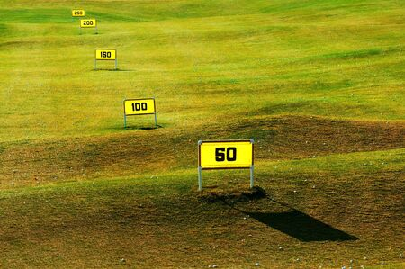 Driving range on the golf course