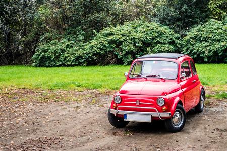 fiat: Old car, Fiat 500 Stock Photo
