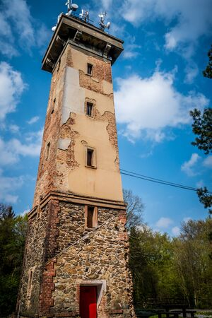 lookout: Old brick lookout tower