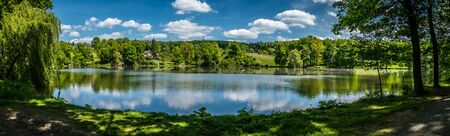 panoramatic: Beautiful panoramatic pond
