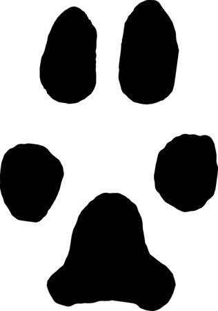 imprint: Imprint dog paw