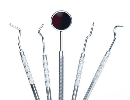 Dental tool equipment. Isolated over white background