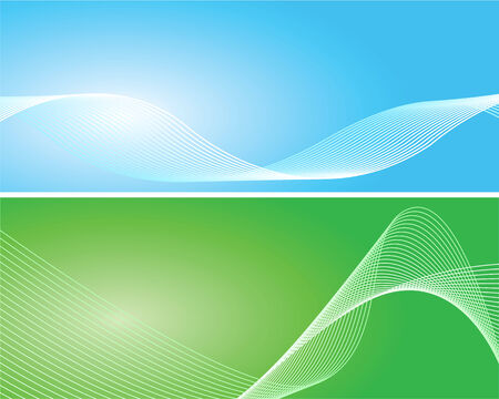 Blue and green background with white lines Illustration