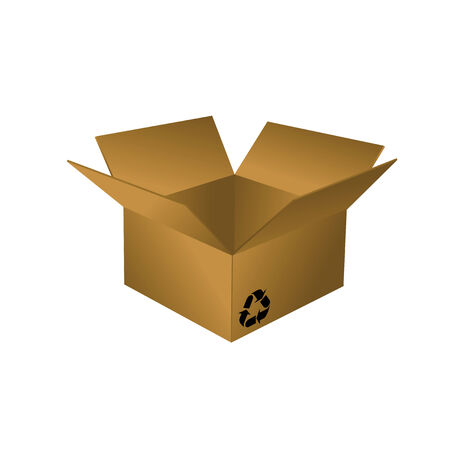 The opened cardboard box on a white background Stock Vector - 7535644