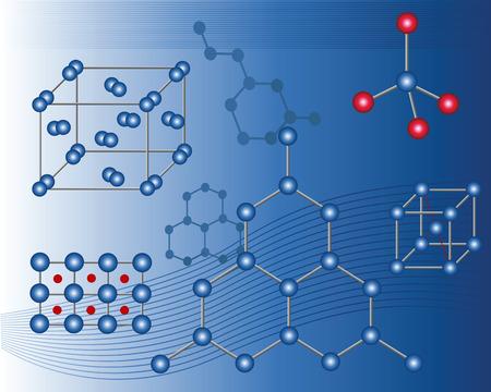 iodine: Nuclear lattice on a dark blue background