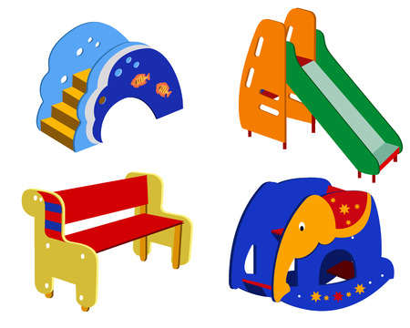 Beautiful children's furniture on a white background Stock Vector - 7535609
