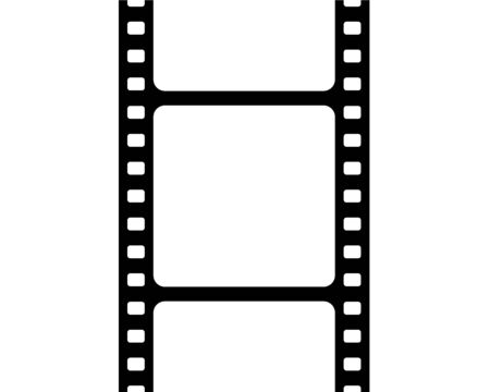 Cinefilm for advertising on a white background