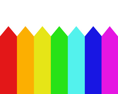 spectral colour: Seven beautiful spectral colours of a rainbow Illustration