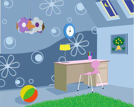 Room for the child in the house Stock Vector - 7535809