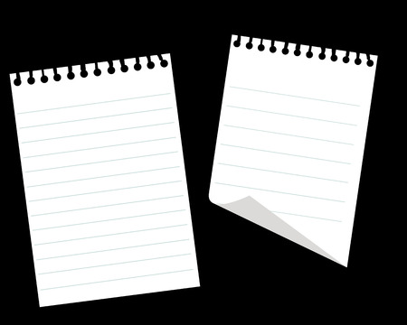 Sheets of a paper on a black background Stock Vector - 7535673