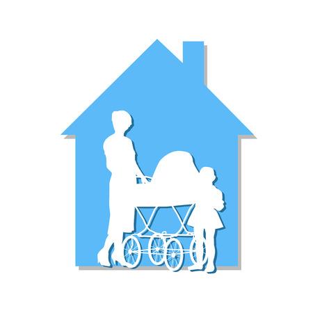 perambulator: Il perambulator lascia una bella casa blu