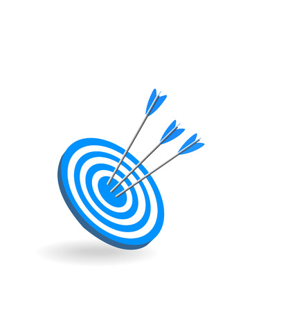 targets: Vector sports target on a white background