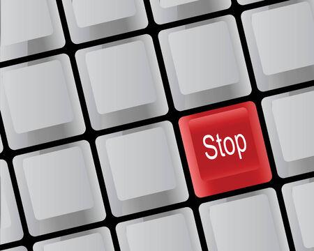 bevoelen: Rode toets op het toetsen bord van de computer