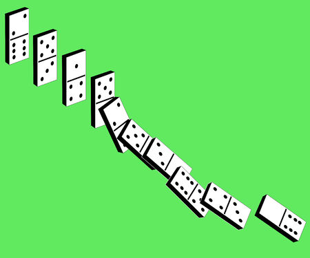 dominoes: Game of a dominoes for rest and entertainment