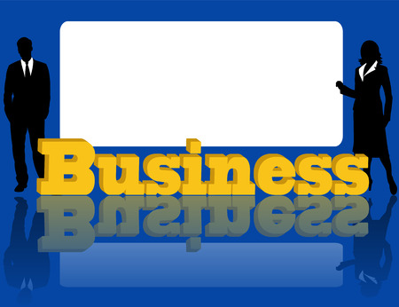 Advertising of business on a blue background Stock Vector - 7823246