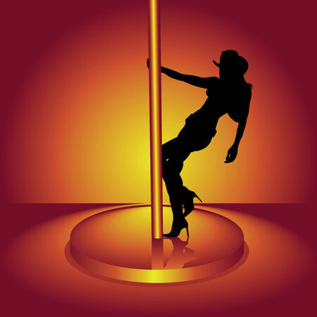 pole dance: La ragazza in una danza di danze del cappello