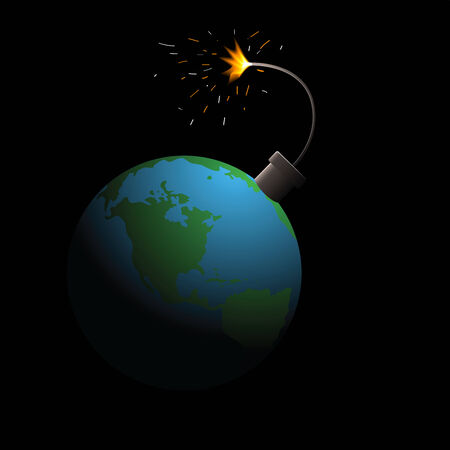 blow up: The bomb prepares to blow up a planet