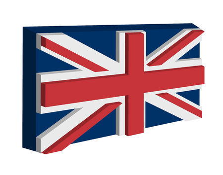 The England flag on a white background Stock Vector - 8027065