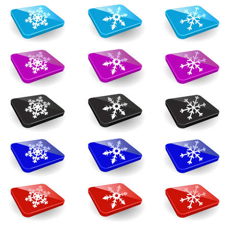 Set of New Years icons on a white background Vector