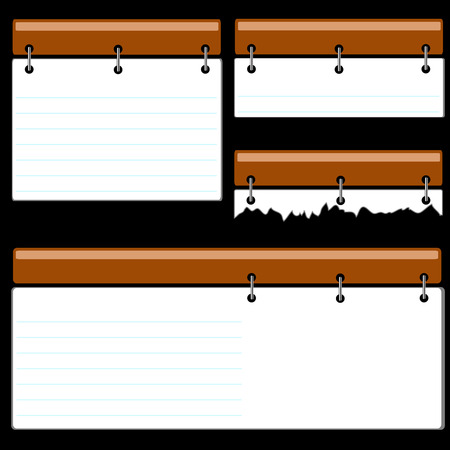 Sheets of a paper on a black background Stock Vector - 8139856