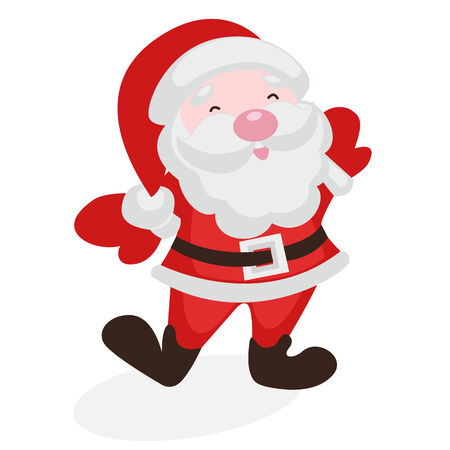 jovial: Merry Santa Claus on a white background