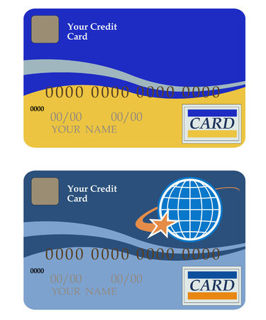Two credit cards on a white background Stock Vector - 8273876