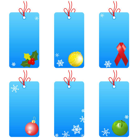 Set christmas tablets on a white background Vector