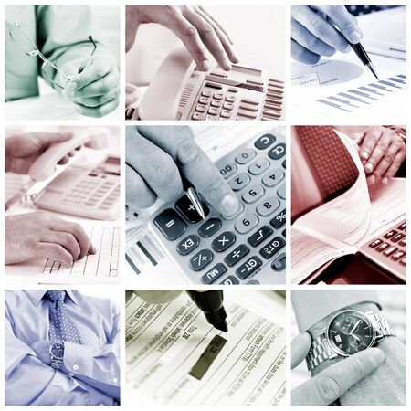Business people working with documents and calculator
