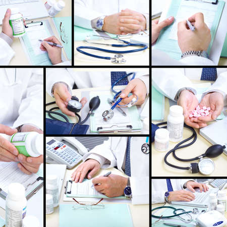 Medical doctor working in the office. Hospital Stock Photo - 8577417