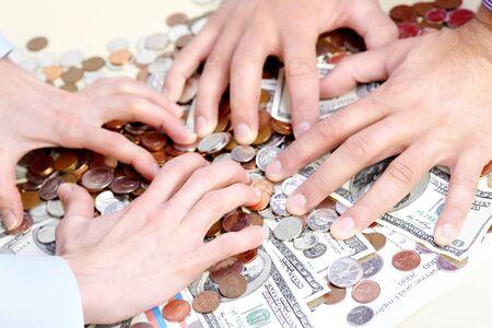 avidity: people with cash, money, bills, coins