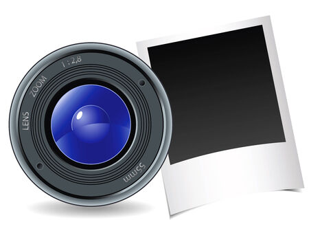 Camera and photography on a white background Vector