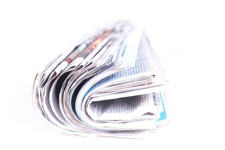 The daily newspaper on a white background photo