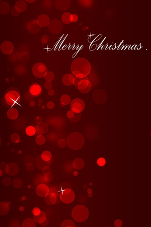 lens flare: Christmas background from red circles with the text