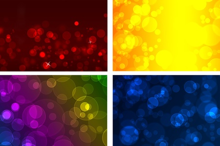 Set of abstract backgrounds from multicoloured circles photo