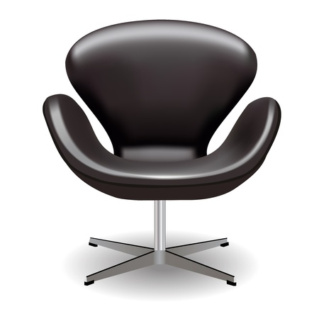 leathern: Leathern armchair with a shadow on a white background Illustration