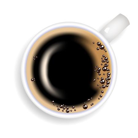 sip: Taza de caf� de caf� sobre un fondo blanco
