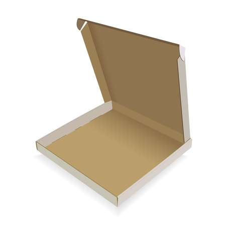 Paper box for a pizza on a white background Vector