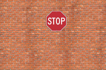interdict: Wall of a house from a red brick. A background