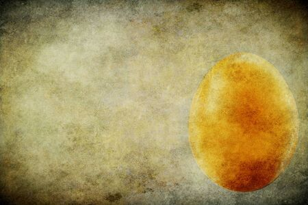 The egg on the old brown paper  Grunge photo